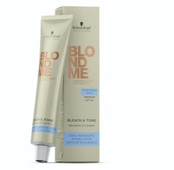 Bleach & Tone Lightens & tones in just 1 easy step.