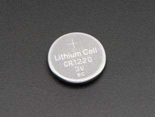 CR1220 12mm Diameter - 3V Lithium Coin Cell Battery PRODUCT ID: 380 https://adafru.it/em8 $0.
