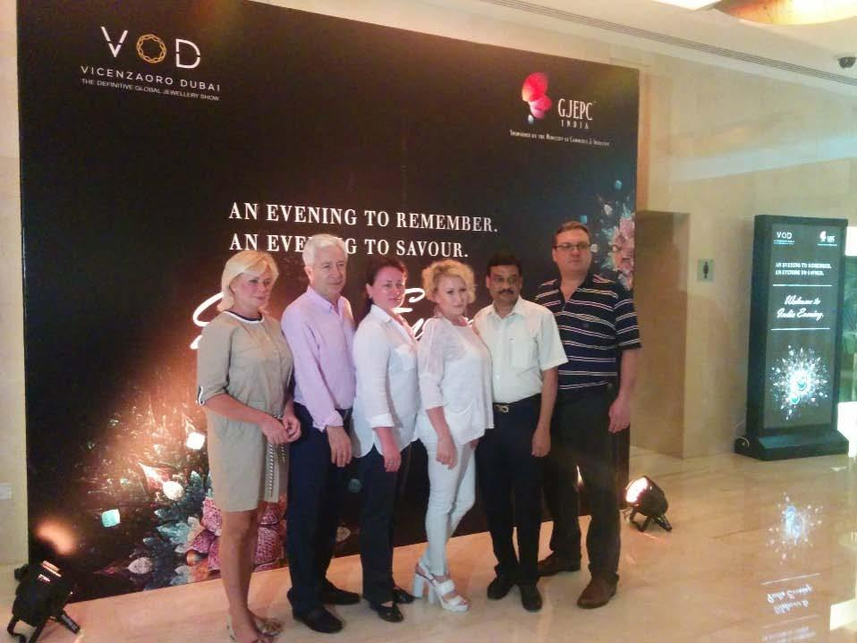At VoD this year, the Indian Pavilion showcased 98 leading Indian manufacturers & retailers spread across 136 booths/1224 sqm, who exhibited a vast array of diamonds, gems & jewellery developed
