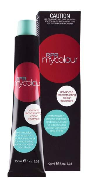 Mycolour Mycolour is an advanced reconstructuring colour treatment that replenishes the hair creating moisture, shine and long-lasting colour.