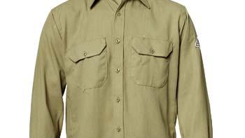 rating ATPV 4.8 calories/cm 2 4.5 oz. NOMEX IIIA Long sleeve, button front Insect Shield logo on right sleeve Size : S 2XL Tan IS VS1FR 174 Men's 5.8 oz.