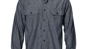 Men s Chambray Work Shirt Insect Repellent Comfortable Durable Soft Fabric Finish 100% cotton, long sleeve, 6 oz.