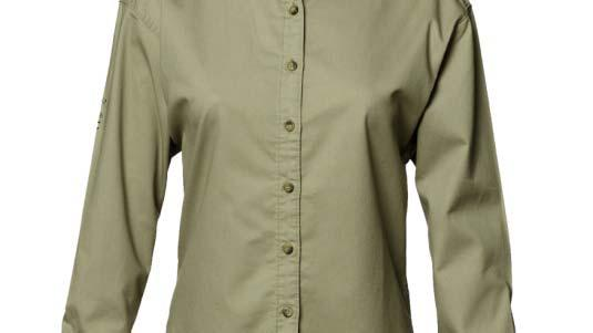 Women's Twill Work Shirt Insect Repellent Comfortable Durable Flattering Fit 100% cotton, 4.