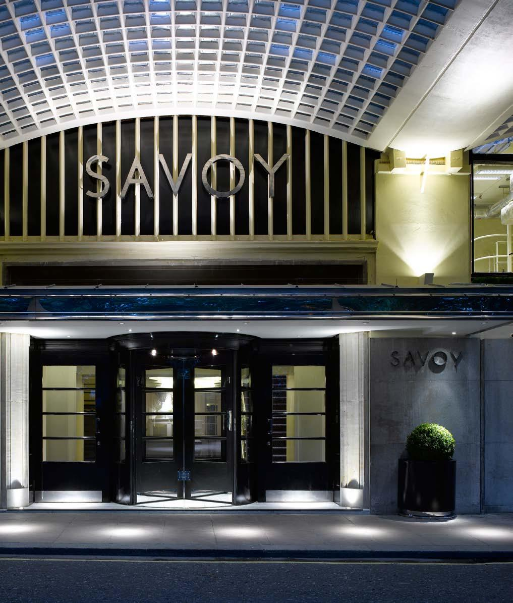 Hotel Options Savoy 5* To stay at The Savoy is to follow in the footsteps of Sir Winston Churchill, Frank Sinatra, Maria Callas, Claude