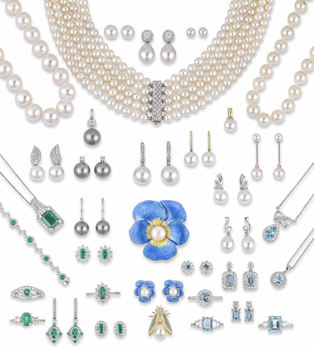 Nos 94 131 PEARLS & COLOURED GEMSTONES JEWELLERY SHOWN ACTUAL