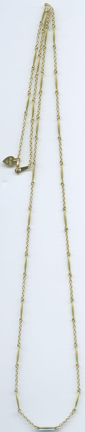 $1339 / $2675 C73015 ALL GOLD LURE NECKLACE C73015-16 $831 / $1650