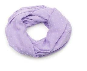 "Tone-on-Tone Circles Infinity Scarf: 68""L (34"" Looped) x 22""W; 100% Polyester $23."