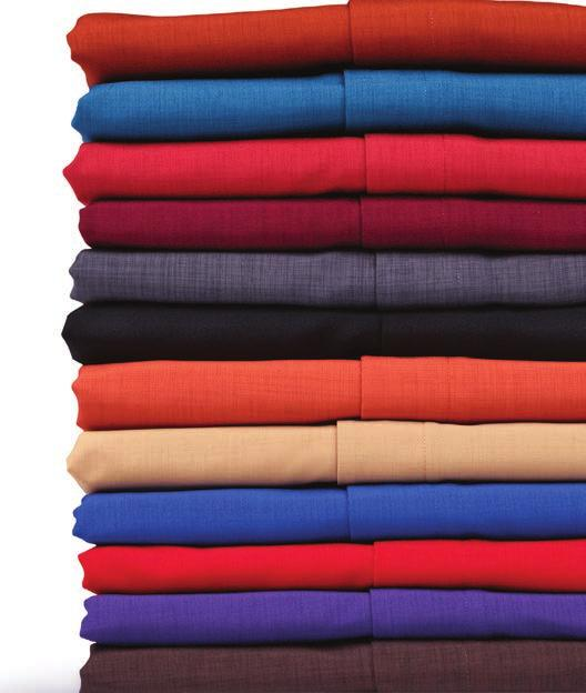 hem Rental ready 100% Polyester, 3.5/3.75 oz.