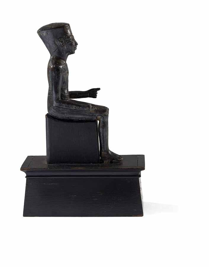 Seated statue of Amun Bronze Egypt