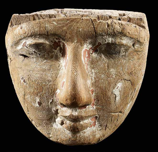 28 Sarcophagus mask Wood Egypt Late Dynastic Period, c.