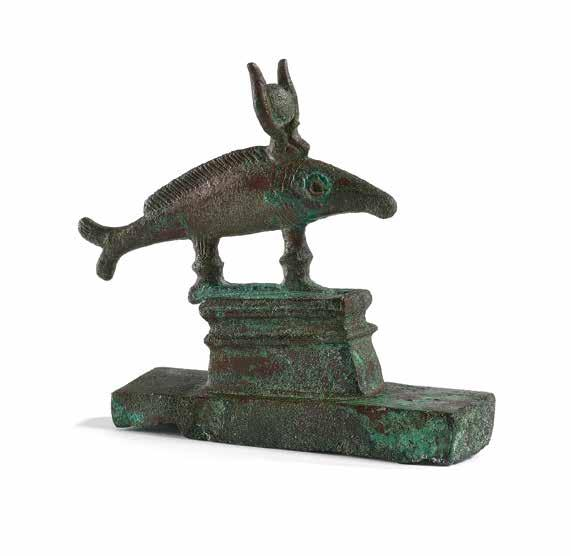 prior to 1990s Statuette of the Apis bull Bronze with fine engraving Egypt Late