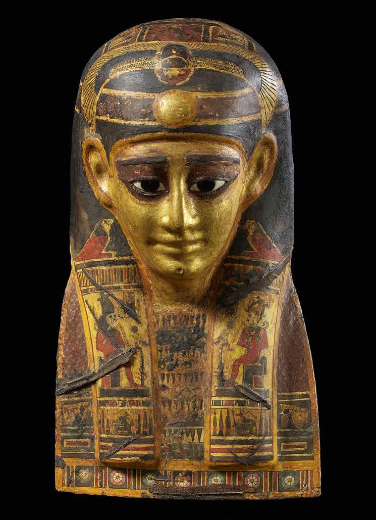 43 Funerary mask Gilded cartonnage with
