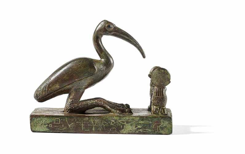 44 Statue of god Thoth Bronze with