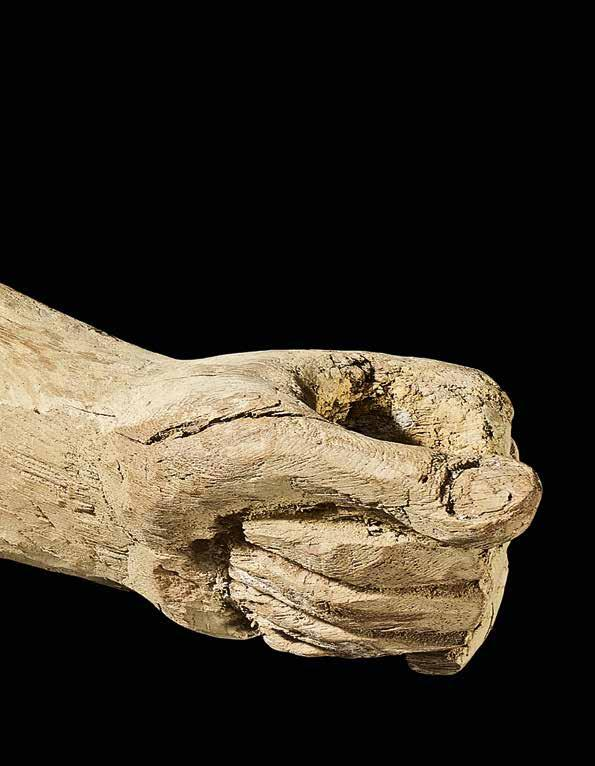 Arm of a large statue Wood Egypt