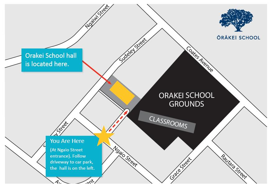 ORAKEI SCHOOL HALL LOCATION FOR