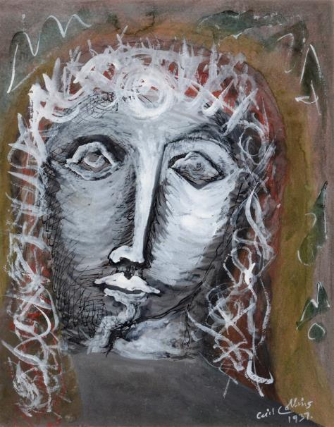 (BRITISH, 1908-1989) Christ Crowned with Thorns, gouache, signed and dated '1937' lower right, 35cm