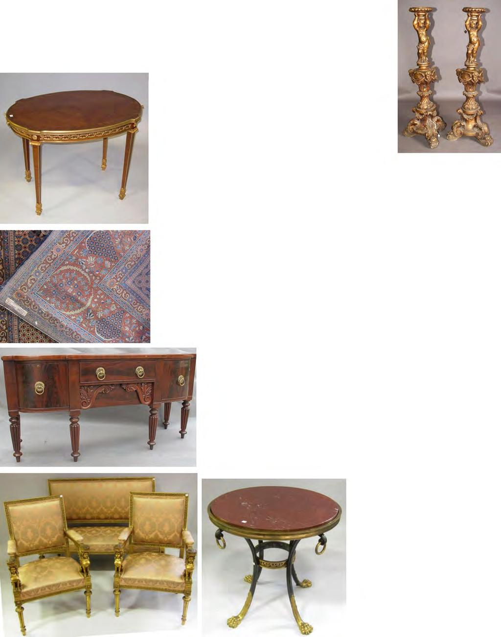 33 Peachtree & Bennett 232 ANTIQUE LOUIS XVI MARBLE TOP SIDE TABLE: with a pierced brass gallery, and mahogany cylindrical roll top. On brass capped tapering column legs. Very good condition.