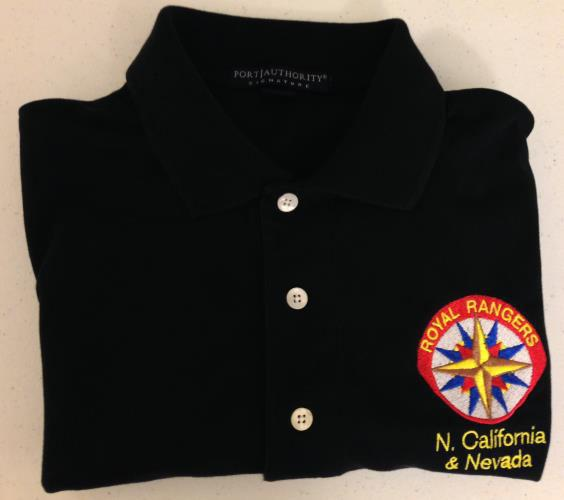 #RS004 Royal Ranger Polo Shirt Colors Black or White RR Polo Sizes &