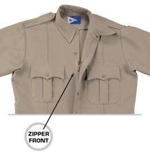 #DC007 Dress Uniform Shirt Silver Tan #DC008 Dress Uniform Shirt W/ zipper, Silver Tan W/ Zipper Front Add $10 Long