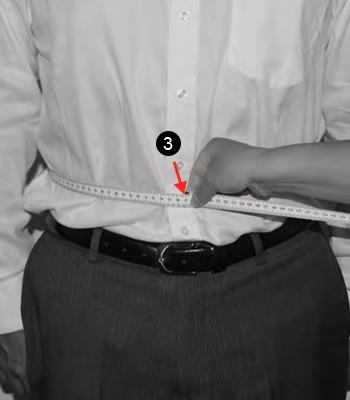 3. STOMACH Measure around the widest part of your abdomen, placing a finger between your body and the tape. Make sure the tape is at the same height at all times.