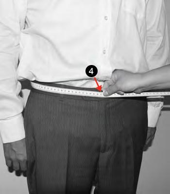 WAIST Wearing trousers and a shirt put the measuring tape around your waist at the height were you would wear your pants and adjust to your designed snugness with room for a