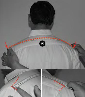 6. SHOULDER Measure across the top of the shoulder from one edge to the other.