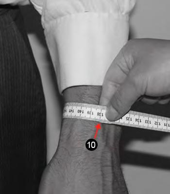 WRIST Measure around your wrist bone leaving one finger of space to take