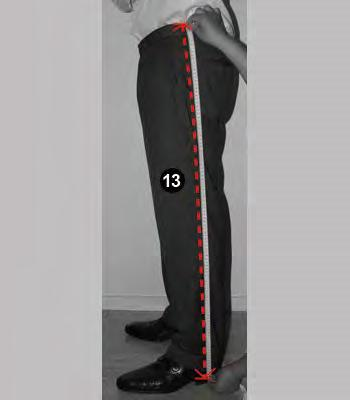 measure around your thigh with room for a finger. 14.