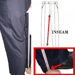 15. INSEAM Measure from the lowest part of your crotch area to the floor.
