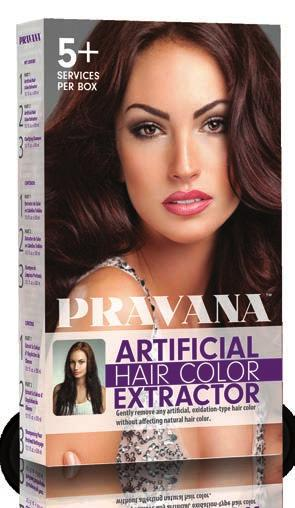 ARTIFICIAL HAIR COLOR EXTRACTOR Gently remove any artificial, oxidation-type hair color without affecting the natural hair color with PRAVANA s Artificial Hair Color Extractor.