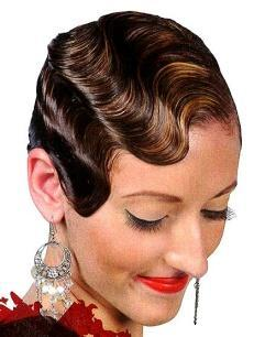 8. Finger Wave 11 minutes Demonstrates molded hair from