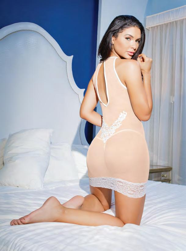 7099 Sheer chemise with
