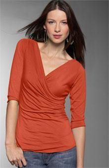 Surplice (sur-plis) A wrap-style blouse or dress in which