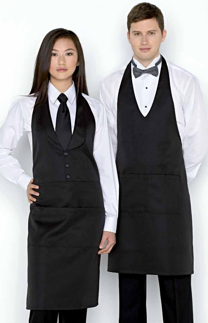 EIGHT-POCKET SERVICE APRON 27 Eight pockets,
