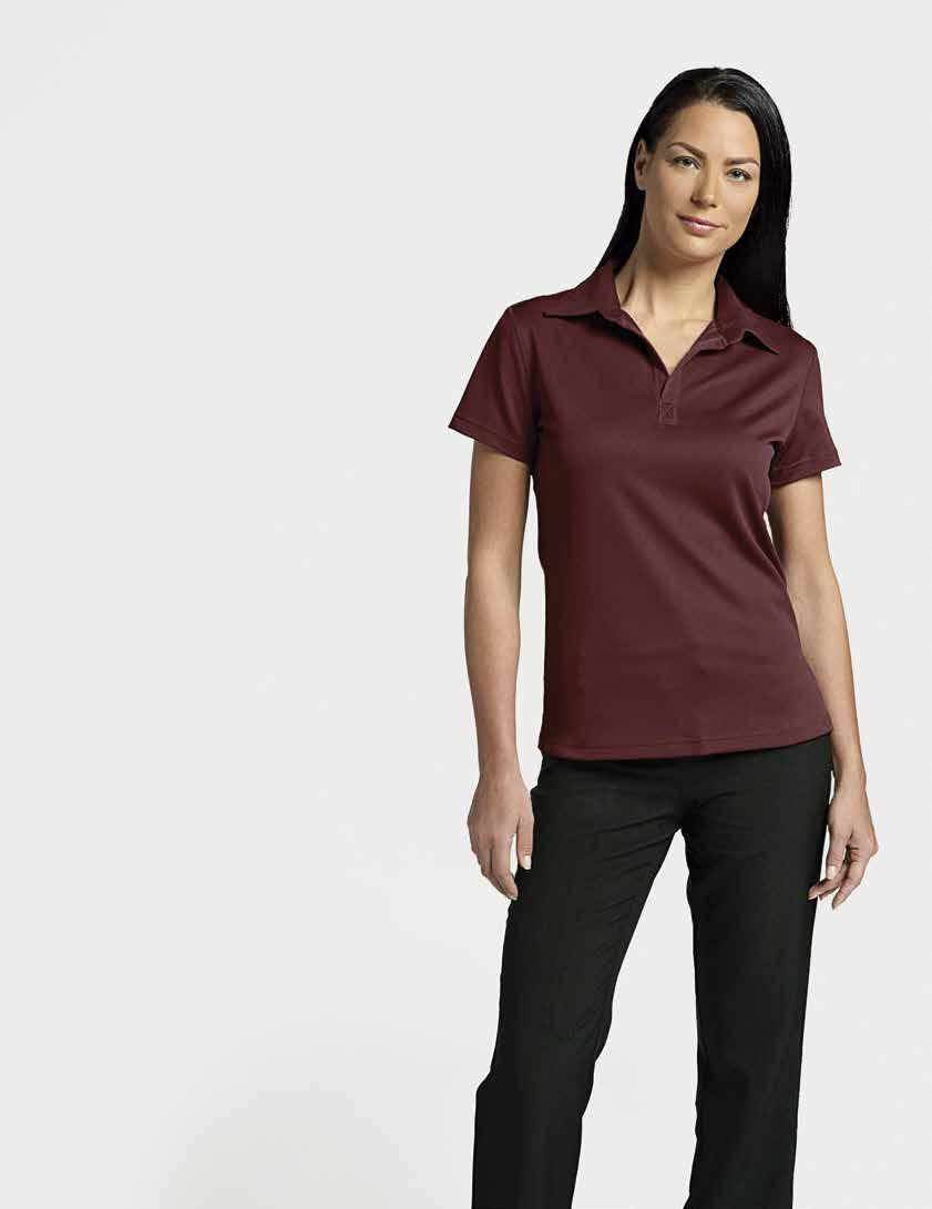 WOMEN S CHARLIE-T POLO Burgundy 29 CHILL-T POLO 26.75 ea.