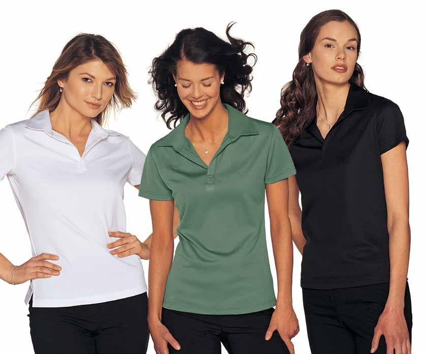 29 WOMEN S CHARLIE-T POLO Semi-fitted cut, short sleeves, FIT4 finish moisture management fabric to keep skin cool and dry,