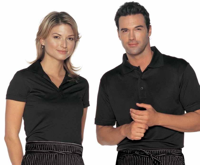 CHILL-T POLO Short sleeves, FIT4 finish moisture management fabric to keep skin cool and dry, comfortable, durable, 100% polyester