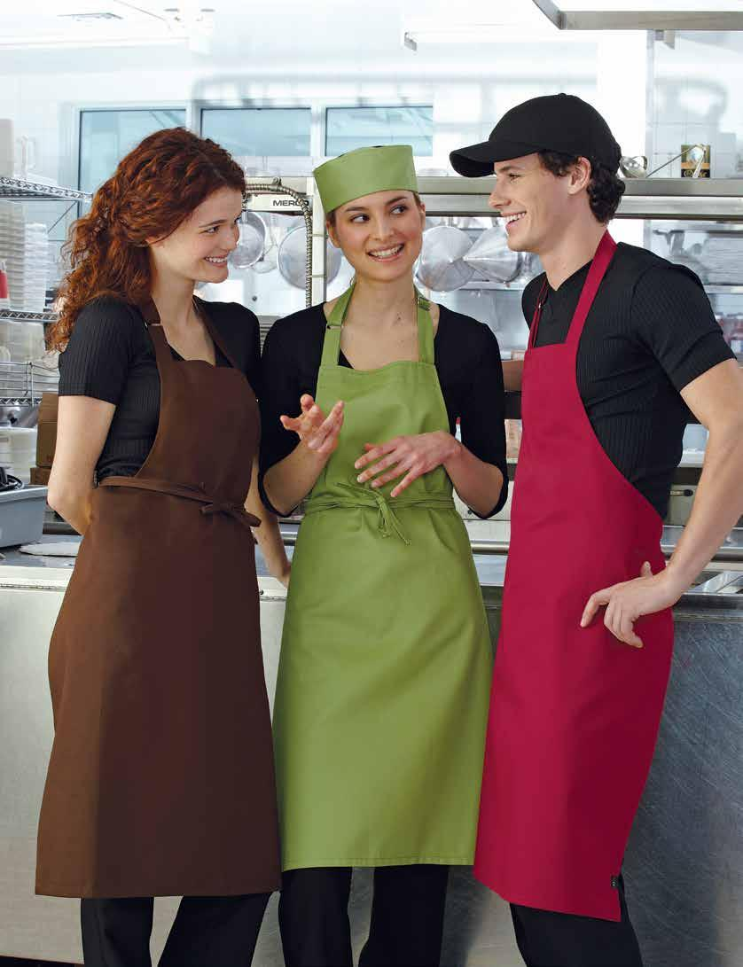 GUSTO BIB APRON Adjustable neck, available with a large divided pocket