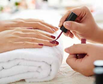 Hand & Feet Treatment Express Manicure Your nails are filed, shaped and buffed smooth then choose a shade in our collection to be applied for beautiful nails. 30 mins $40.