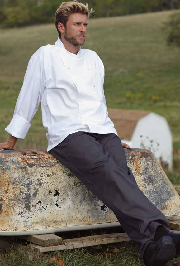uncommon cargo chef pant Recycled 65/35 poly cotton twill - 7.5 oz. Right for any job and right for the planet.