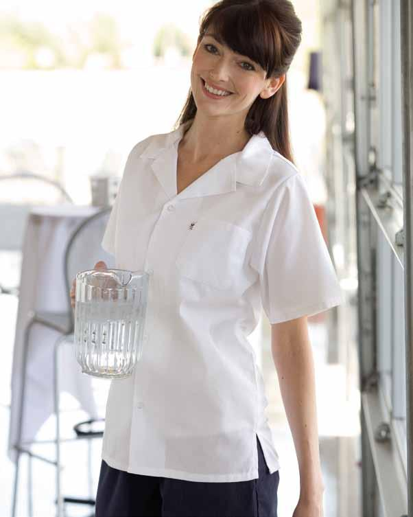 mesh utility shirt Easy-care 65/35 poly cotton poplin