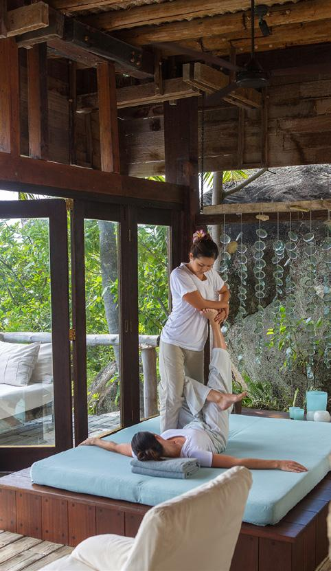 HOLISTIC THERAPIES TRADITIONAL THAI MASSAGE Traditional Thai Massage is also known as Yoga Massage as the body weight of the therapist is used to apply pressure and supported stretches, similar to