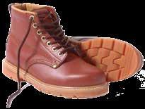 Work Boot - Genuine leather in Khaki - Rubber sole - Brass