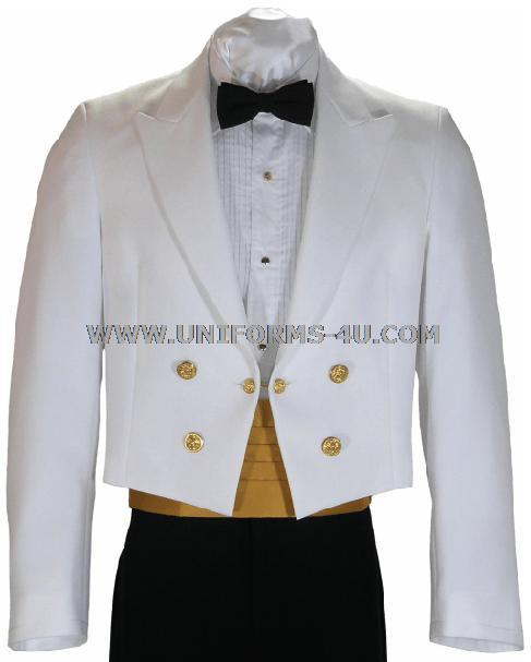 Formal Dress (Banquets/Balls): Appropriate Templar Formal Dress to be white dinner dress jacket; white shirt; black bow tie or black tie; black slacks or black tuxedo pants; black shoes; and black