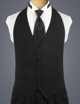 CLASSIC VESTS CLASSIC CUMMERBUND Black Backless A backless, black vest with a six