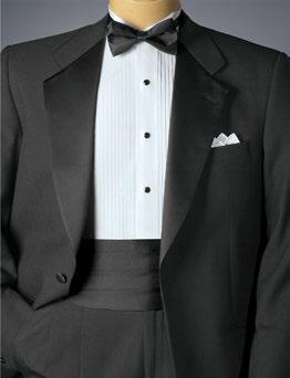with a matching piqúe formal shirt (specify 36W); typically worn with a black