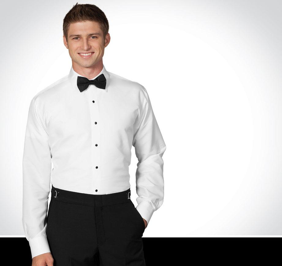 MICROFIBER FITTED SHIRTS Tailored Fit with a Luxurious Feel! The ideal choice for an athletic-built gentleman looking for fitted styling in a formal shirt.