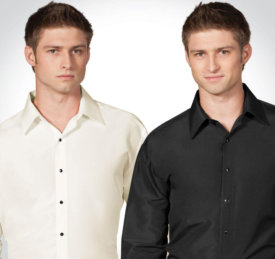 96I Ivory Microfiber Fitted Shirt