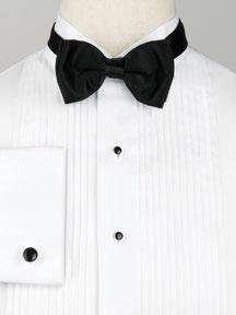 FORMAL SHIRTS 85W White Wing Collar with 1/4 pleats & barrel cuff 86W White Laydown Collar with 1/4 pleats & barrel cuff 36W White Pique Wing