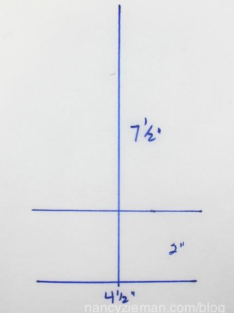 line. Measure 2 above the 4-1/2 line and draw another 4-1/2 horizontal line. Connect the outer edges.